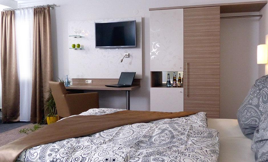 Boutique ist das elegante Hotelzimmer-Einrichtungs-Konzept von CREAFORM