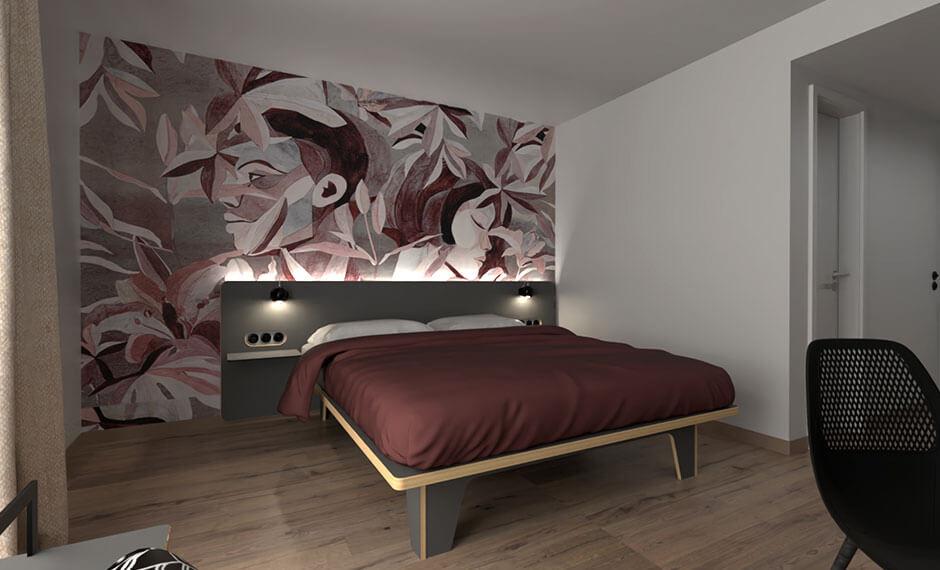 Moderne modulare Hotelzimmereinrichtung