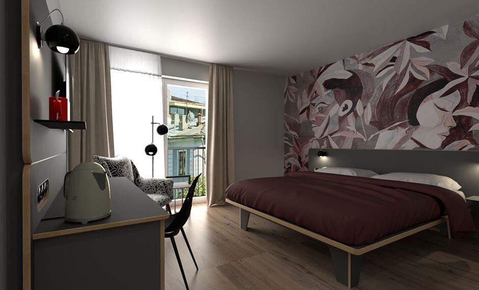 Hotelzimmer komplett im Multiplex-Look