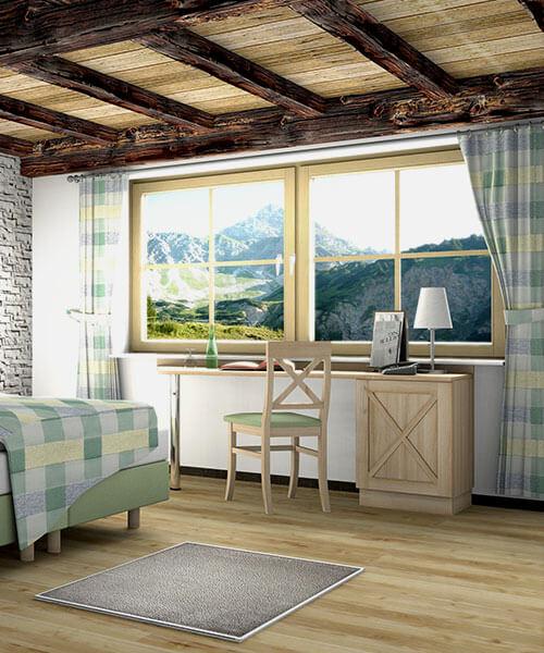 Hotelmöbel Kastell mit Alpenflair