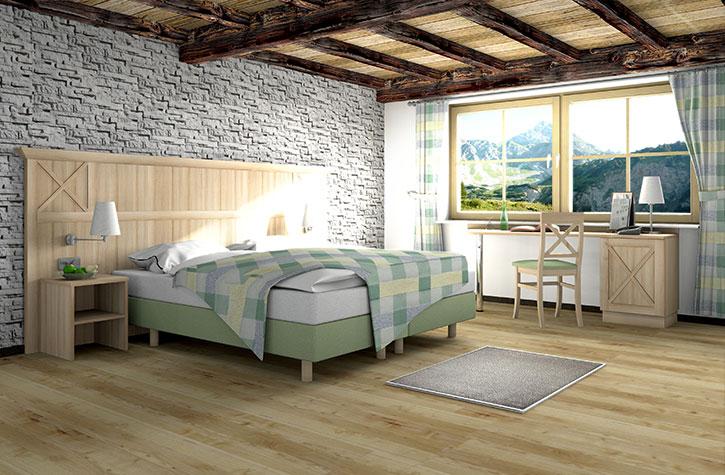 Hotelzimmer-Design mit unterschiedlichen Dekoren
