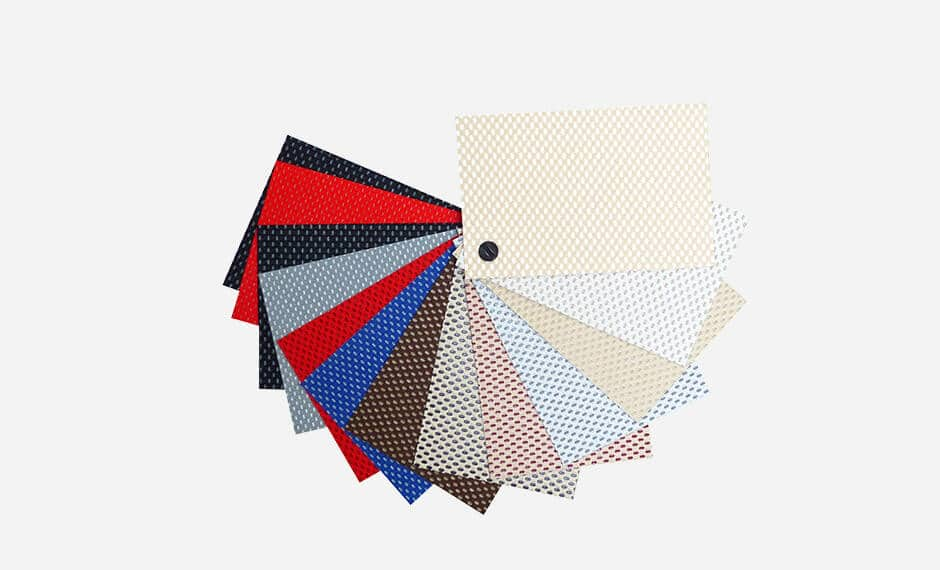 Farbpalette für Bezugsstoffe im Hotel-Bereich