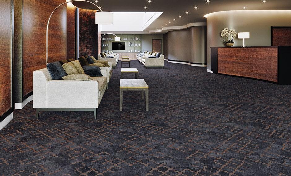 Bodenbelag in der Hotel-Lobby