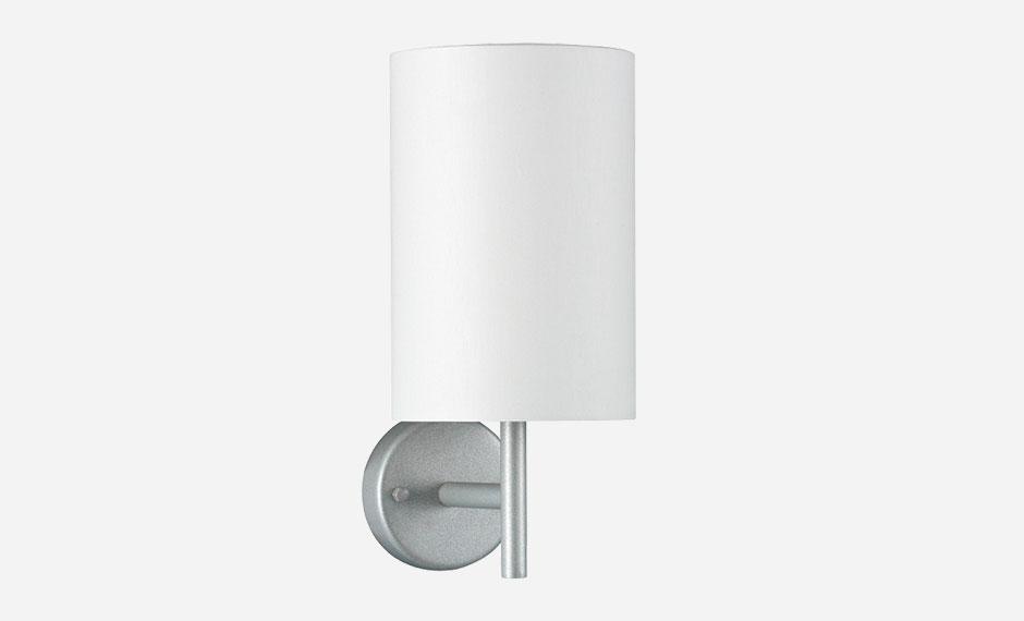schlichte Wandlampe für Hotel